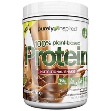 Purely Inspired 100% Plant Based Protein, Chocolate, 1.5 Pound Pack of 2