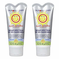 California Baby SPF 30 Plus Sunscreen No Fragrance - 2.9 fl oz. (Pack of 2)