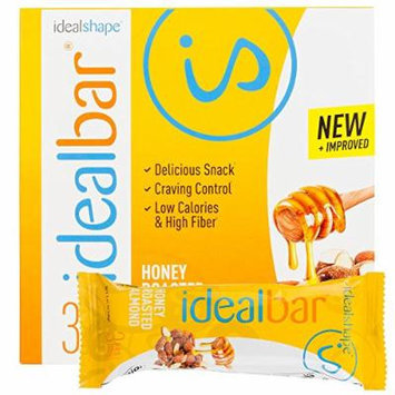 IdealBar, Meal Replacement Bars, Honey Roasted Almond, w/ Hunger Blocker - 140 Calories, 8g Sugar, 11g Protein - 7 Bars