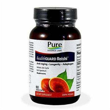 Pure Essence Labs HealthGuard Reishi - Anti-Aging - Longevity - Adaptogen - 60 VegiCaps