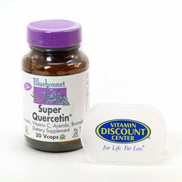 Bundle - 2 Items: 1 Bottle of Super Quercetin By Bluebonnet - 30 Vegetarian Capsules and 1 VDC Pill Box