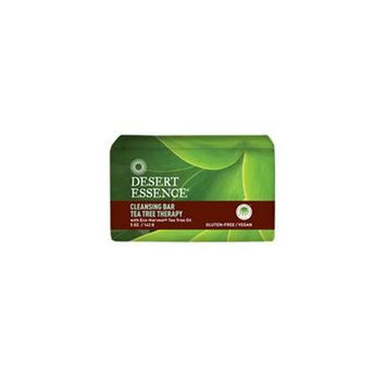 Desert Essence Bar Soap, Tea Tree Therapy, 5 Ounce (Pack of 4)