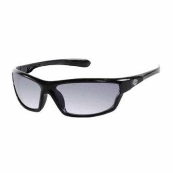 Harley-Davidson Mens Sunglasses, Bar & Shield Black Frame/Gray Lens HDV016-BLK-3