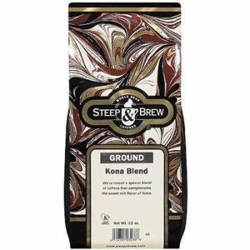 Steep & Brew Kona Blend Ground Coffee, 12 oz