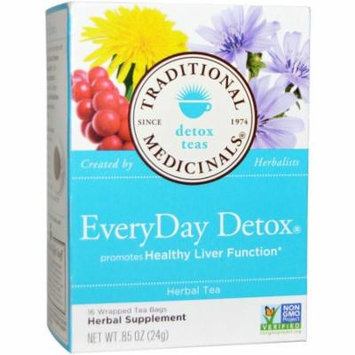 Traditional Medicinals Everyday Detox, Organic, 16 Count (Pack of 2)
