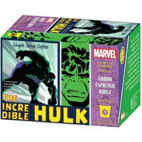 Marvel The Incredible Hulk Gamma Espresso Roast Dark Roast Coffee Single Serve Cups, .32 oz, 10 count