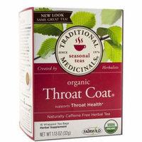 Traditional Medicinals Herbal Tea, Organic, Throat Coat, Caffeine Free, 16 Count (Pack of 2)