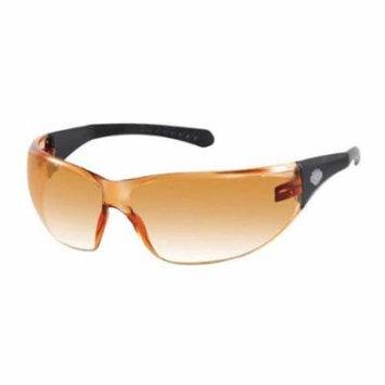Harley-Davidson Men's Sunglasses, Bar & Shield, Black/Orange Lens HDVZ102-OR-14