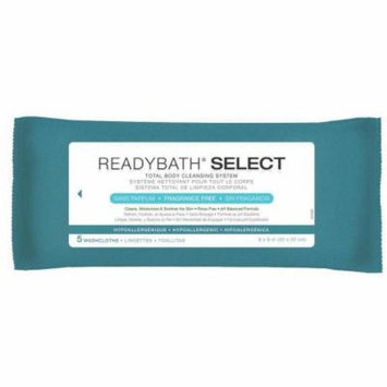 Medline ReadyBath Select Body Cleansing Cloths, Unscented, Case of 150