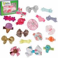 Bundle Monster 18pc Ribbon Bow Flower Mixed Design Baby Girl Hair Clips - Set 2