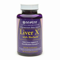 MRM Liver X with BioSorb Daily Liver Support & Detoxification Formula Capsules