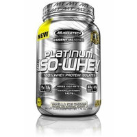 Platinum 100% Iso-Whey By MuscleTech, Vanilla Ice Cream, 1.7lb