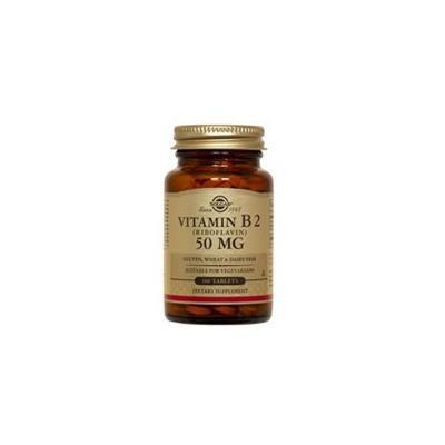 Solgar Vitamin B2 (Riboflavin), 100 Tabs 50 mg (Pack of 2)