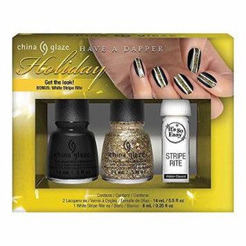 China Glaze Have A Dapper Holiday 3 Piece Nail Art Kit