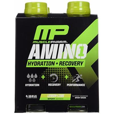Muscle Pharm RTD Amino, Lemon Lime, 4 Count (Pack of 3)