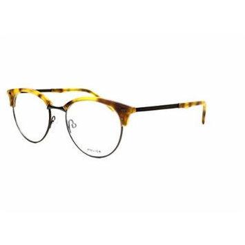 Optical frame Police LINEAR 4 Metal Gun - Havana Yellow (VPL136 0711)