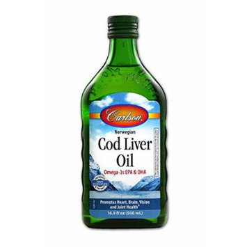 Carlson Labs Cod Liver Oil Nutritional Supplement, Natural, 16.9 Fluid Ounce