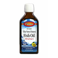 Carlson Labs Very Finest Fish Oil Nutritional Supplement, Lemon, 6.7 Fluid Ounce