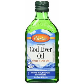 Carlson Labs Cod Liver Oil Nutritional Supplement, Natural, 8.4 Fluid Ounce