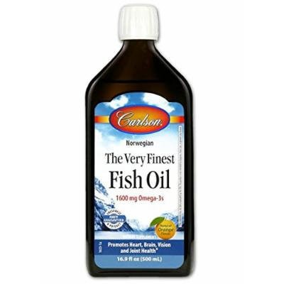Carlson Labs Very Finest Fish Oil Nutritional Supplement, Orange, 16.9 Fluid Ounce