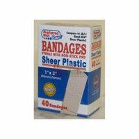 Preffered Plus Bandages Sheer Plastic 1, Latex Free - 40 Ea