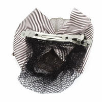 Bowtie Flower Detailing Hair Clip Barrette Crochet Net Snood Hair Fascinator