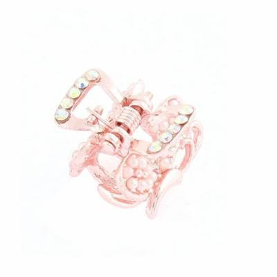 Butterfly Design Mini Hair Clips Claw Clip Hairpin Pink for Lady