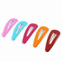 5 Pieces Ladies Colorful Coated Metal Componment Snap Hair Clip