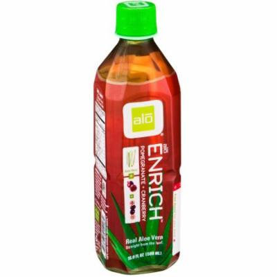 ALO Aloe Vera Pulp & Juice, Pomegranate & Cranberry, 16.9 Fluid Ounce (Pack of 6)