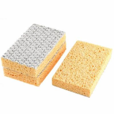 Double Sided Soft Sponge Dish Pot Cleaning Sponge Scrub Scouring Pads 3 Pcs