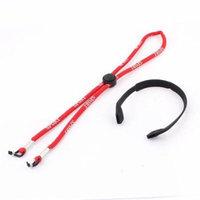 Sunglasses Red Neck Cord Strap Glasses Retainer w Black Silicone Sports Band