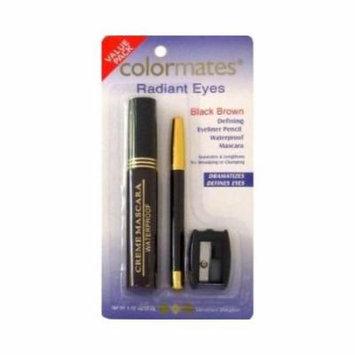 Colormates Mascara & Eyeliner Pencil (Black/Brown) + Sharpener
