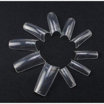 AGPtEK Acrylic UV Gel Half French Clear False Finger Nail Art Tips Tools 500 PCS