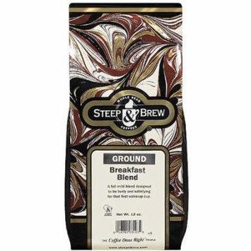 Steep & Brew Breakfast Blend Ground Coffee, 12 oz