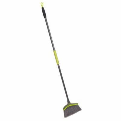 Casabella Wayclean Wide Angle Broom, Taupe and Green