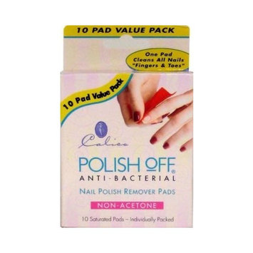 Calico Polish Remover Pads,10- count (3-Pack)