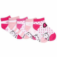 Hello Kitty Sports Girl's Socks (Pack of 5) - Small (2T-3T)