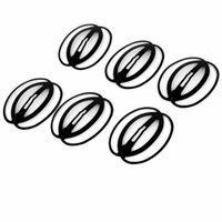 6pcs Oval Shape Bendy Snap Hair Clip Prong Hairpin Bobby Pin Slides Black