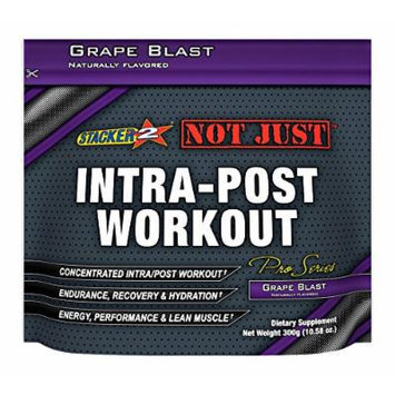 Stacker 2 Not Just Intra-Post Workout Pro-Series Energy Pouch, Grape Blast, 300 Gram