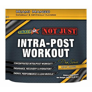 Stacker 2 Not Just Intra-Post Workout Pro-Series Energy Pouch, Miami Mango, 300 Gram