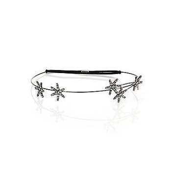 Jennifer Behr Venus Crystal Circlet Headband - Gunmetal