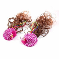 Uxcell 2 Piece Girls Curly Wig/Headwear/Rose Hat/Clip/Hairpieces