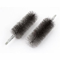 6mm Thread 40mm Dia Steel Wire Pipe Tube Cleaning Chimney Brush 2pcs