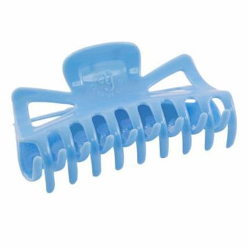 Woman Plastic Bath Hairclip Clamp Hair Claw Barrette Blue Sejer