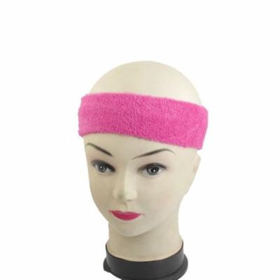 2 Pcs Athletic Spa 6cm Width Magenta Stretchy Terry Headband for Women