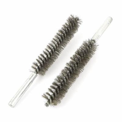 20mm Dia Stainless Steel Wire Pipe Tube Brush Cleaning Tool 2 Pcs
