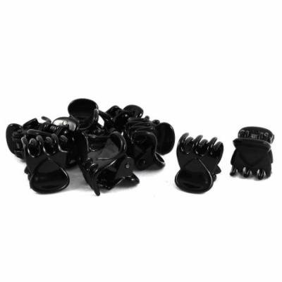 6 Pairs Lady Plastic Hair Claw Clip Jaw Clamp Hairpin Black