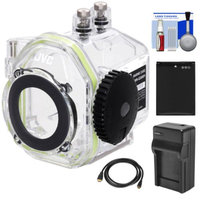 JVC WR-GX001 Underwater Marine Housing Case for GC-XA2 Adixxion Action Camcorder with Battery & Charger + Accessory Kit