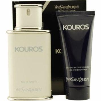 Kouros Edt Spray 3.3 Oz & Free Shower Gel 3.3 Oz (Travel Offer) By Yve