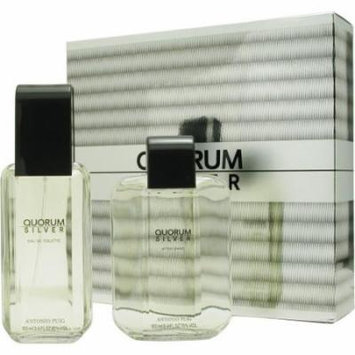 Quorum Silver Set-Edt Spray 3.4 Oz & Aftershave 3.4 Oz By Antonio Puig